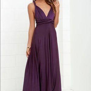 Lulu's CONVERTIBLE PURPLE MAXI DRESS size Large